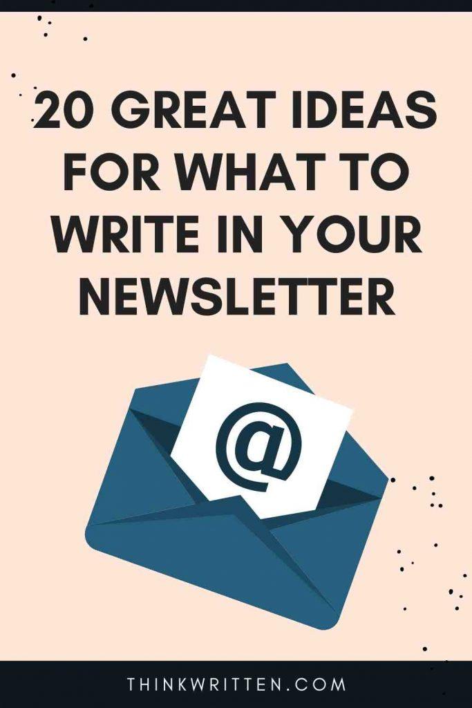 author newsletter ideas