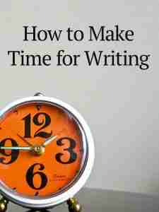 make time for writing