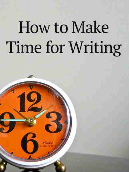 make time for writing
