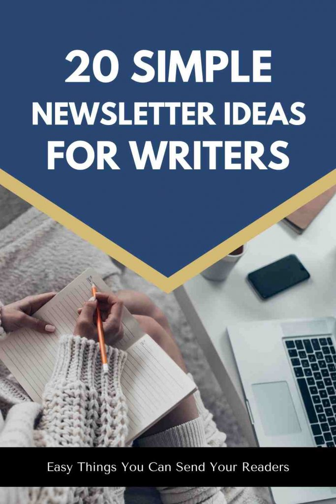 newsletter ideas for writers