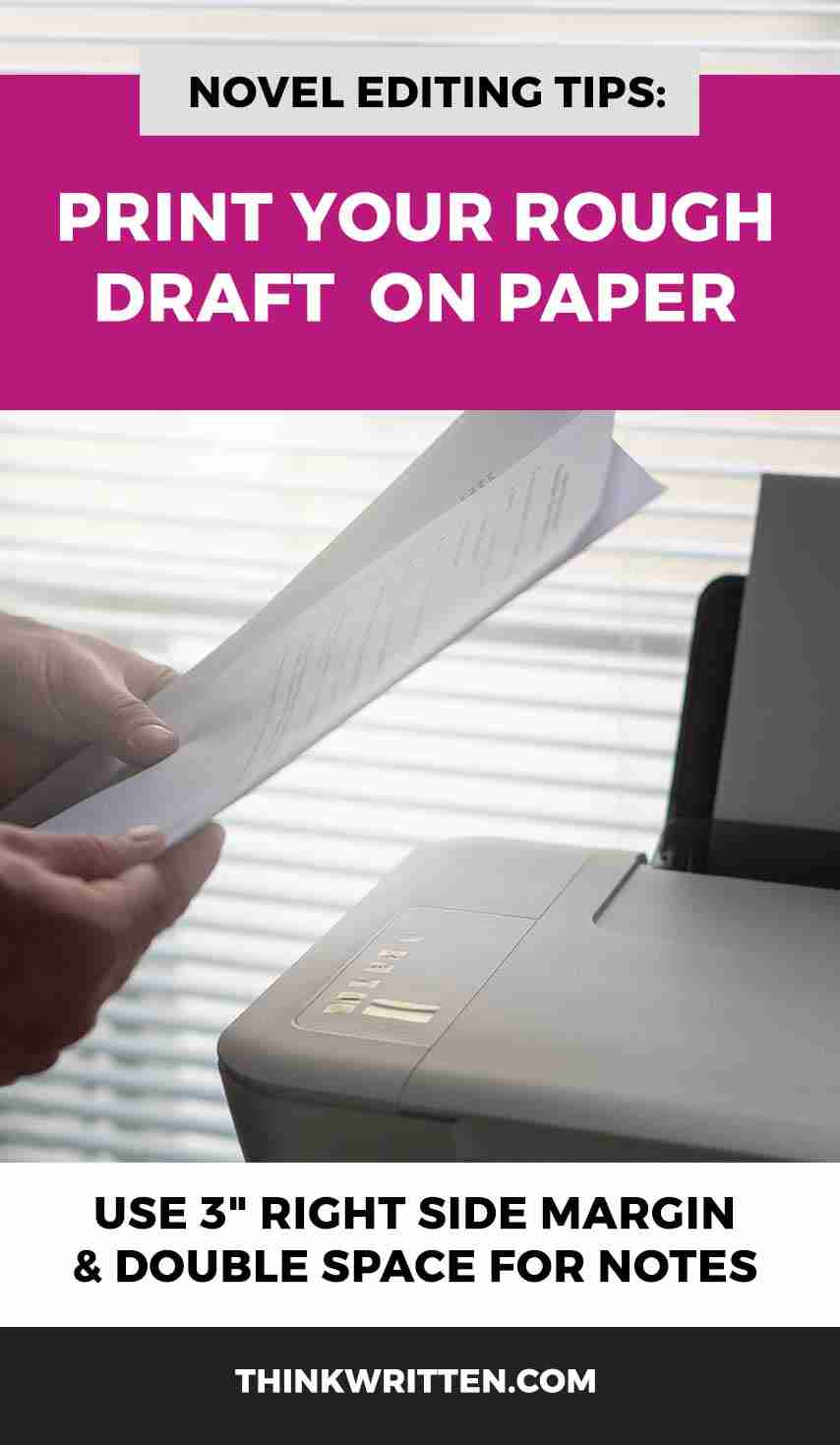 print your novel for editing