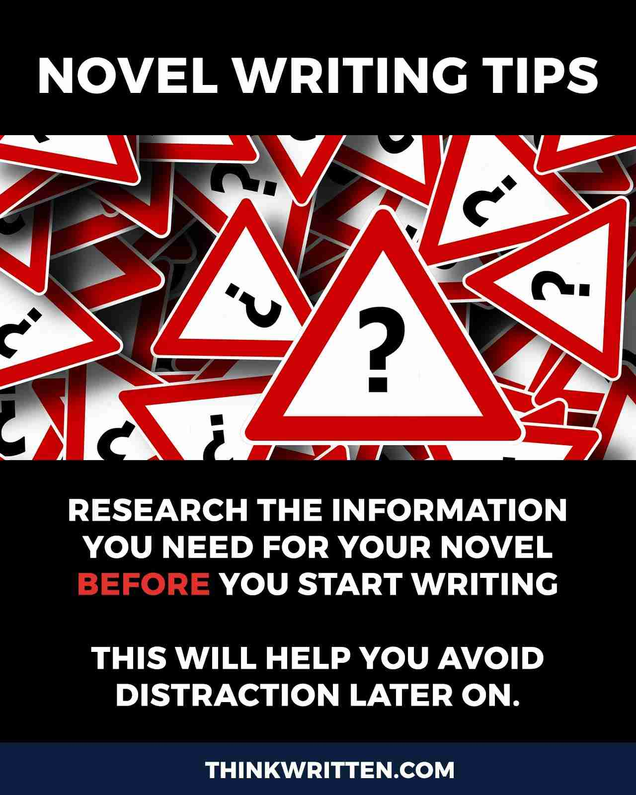 researching phase of writing a novel