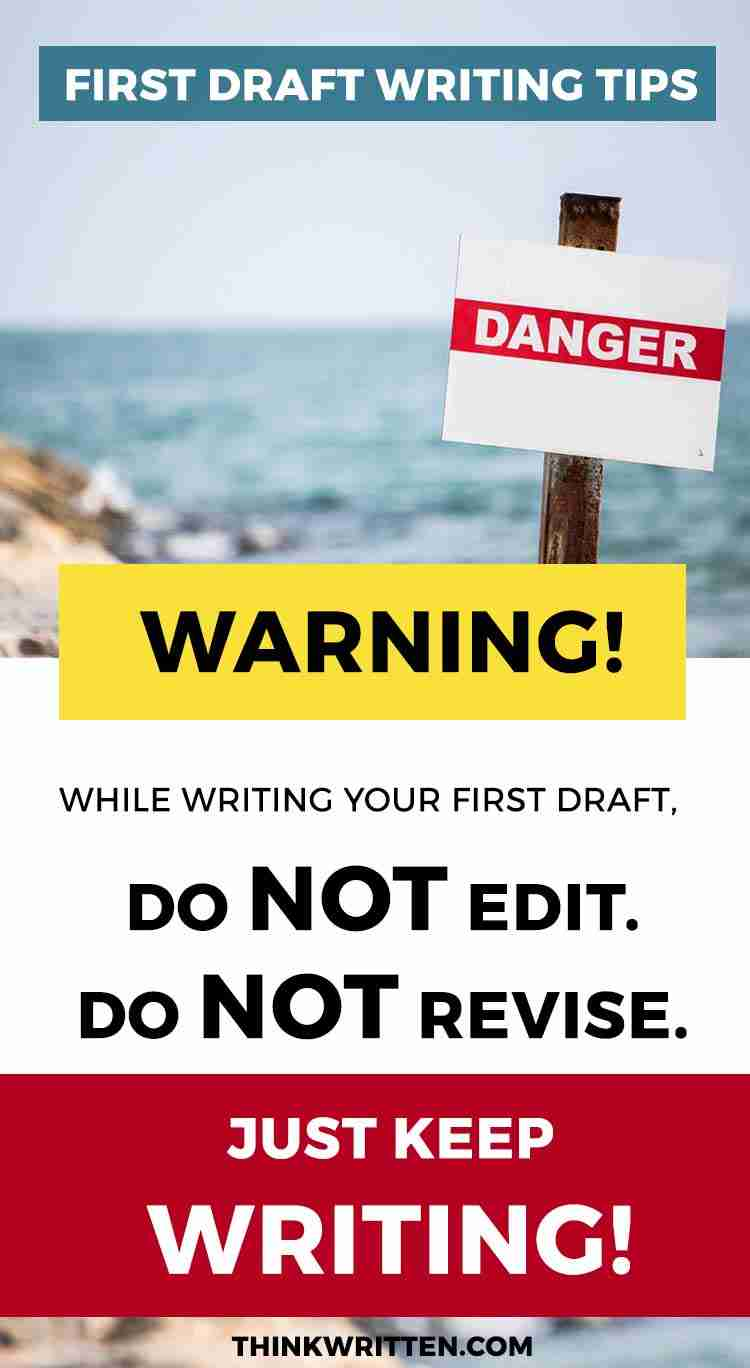 tips for writing novel first draft