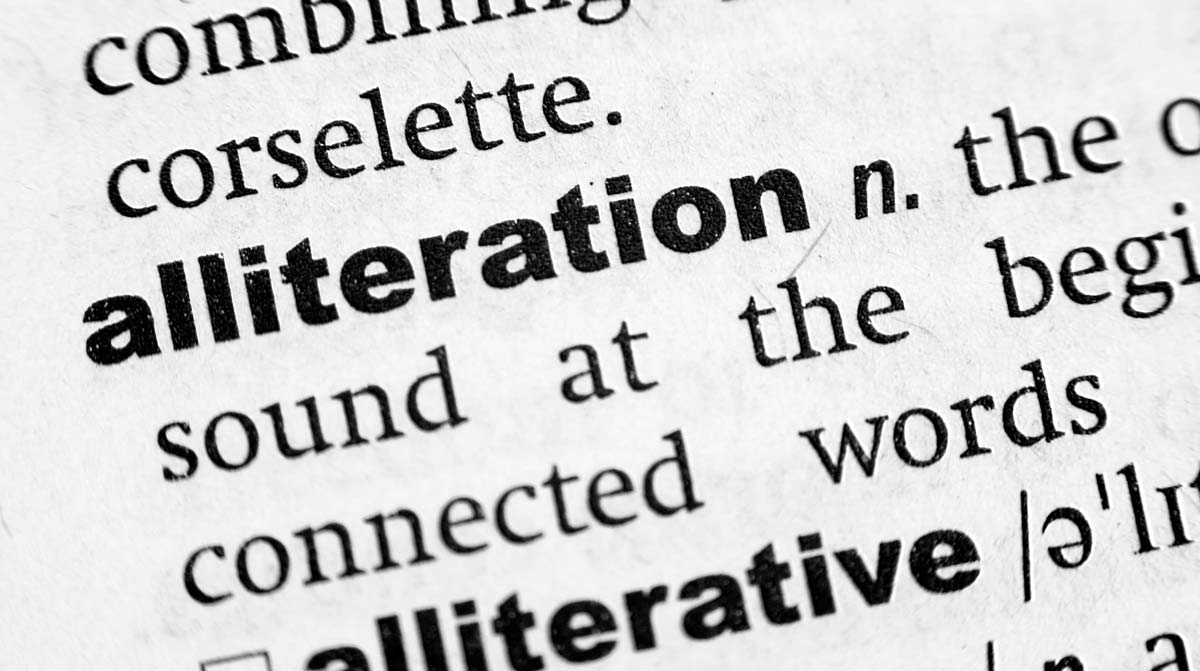 alliteration in writing