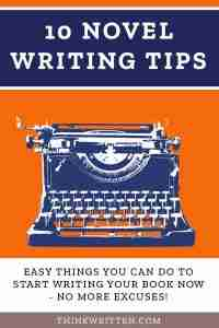 tips for writing a novel
