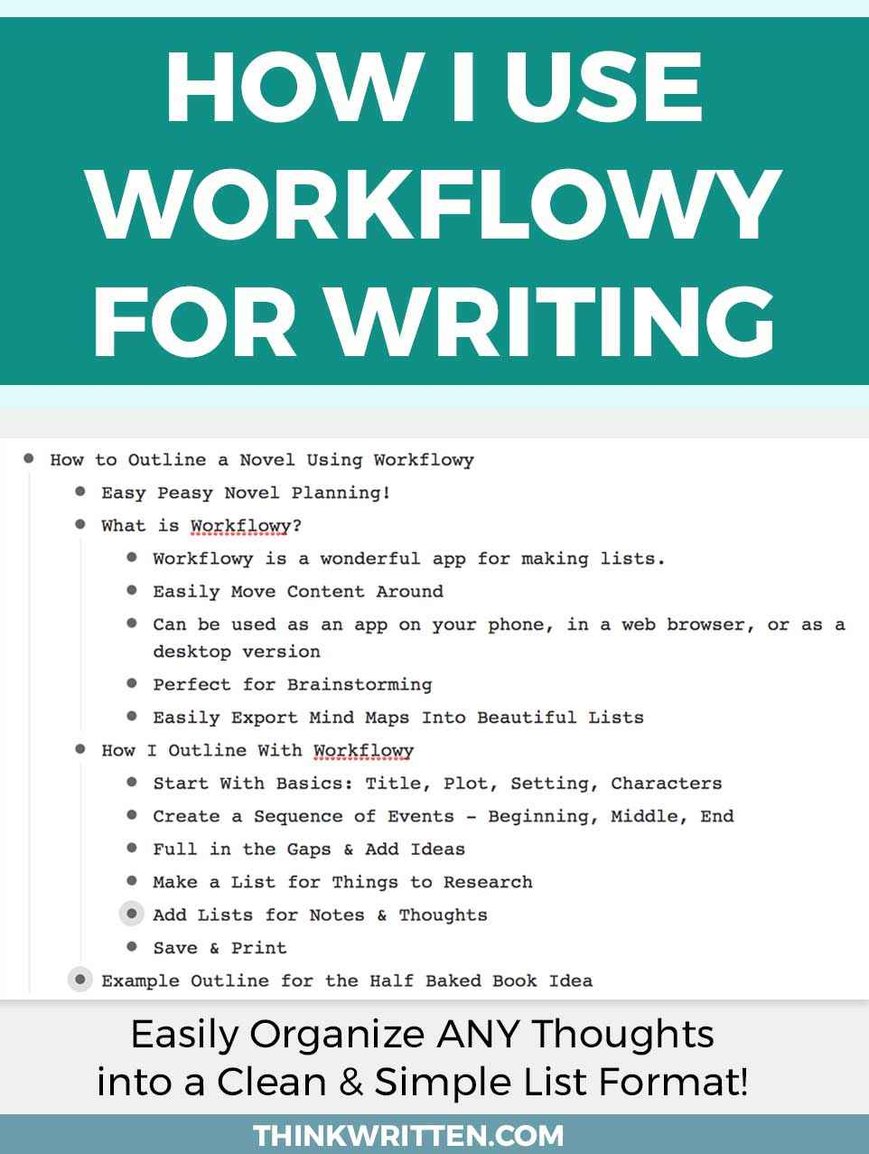 How To Use Workflowy For Writing