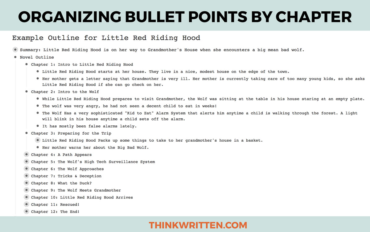 How to Organize Bullet Points by Chapter with Workflowy