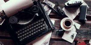 book publishing traditional typewriter