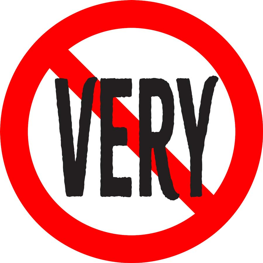 stop using the word very