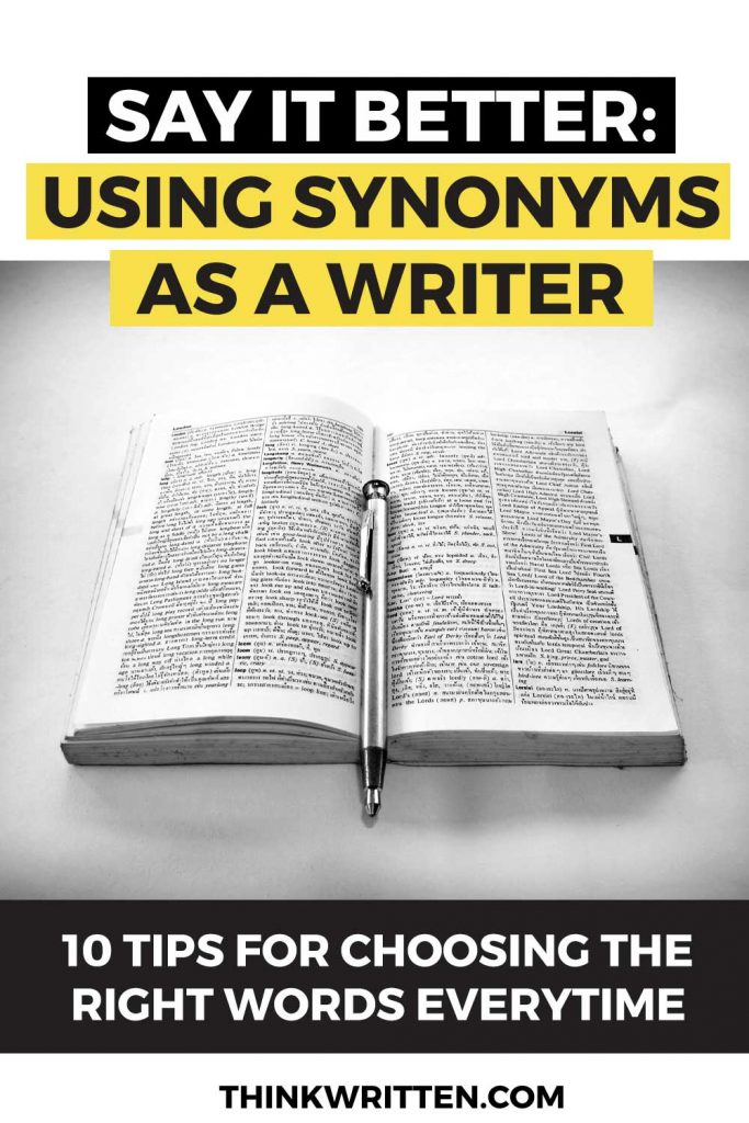 using synonyms as a writer