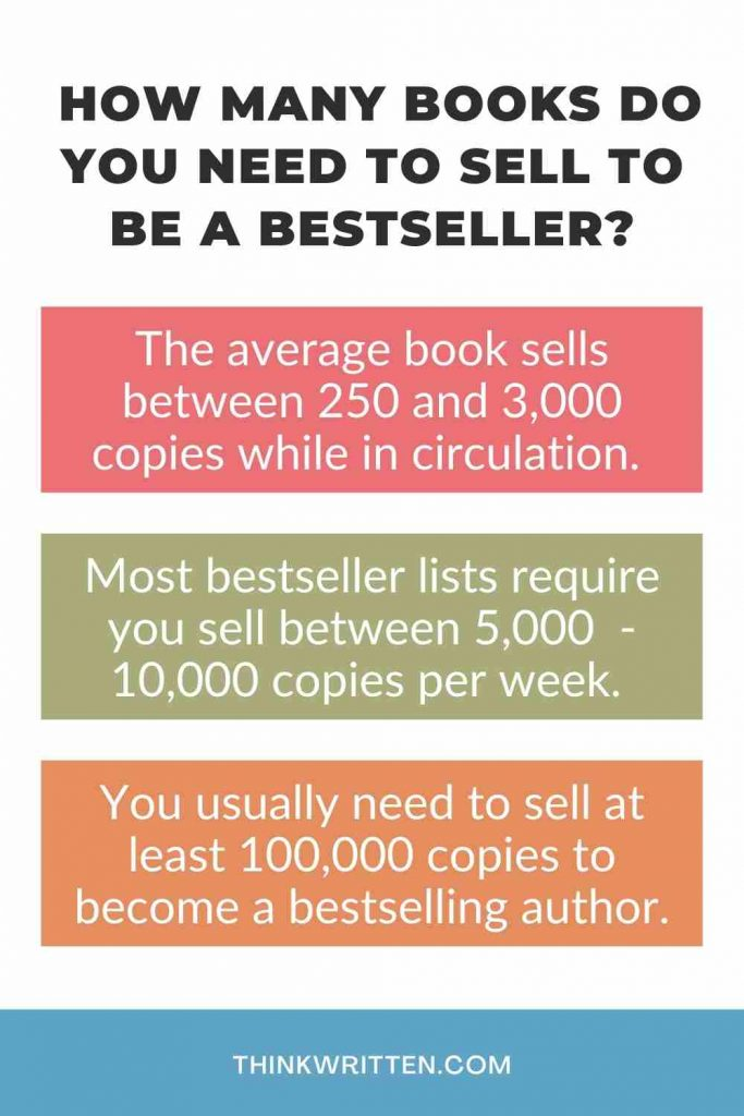 how many books to sell to become a bestseller