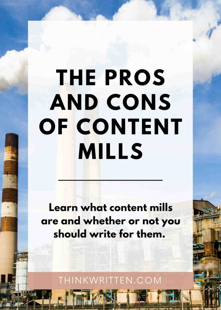 pros and cons of content mills
