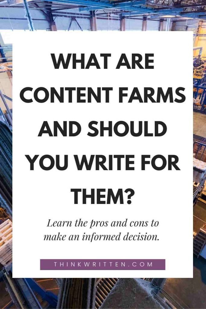 what are content farms